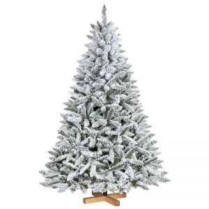 Albero di Natale artificiale Abete naturale con neve