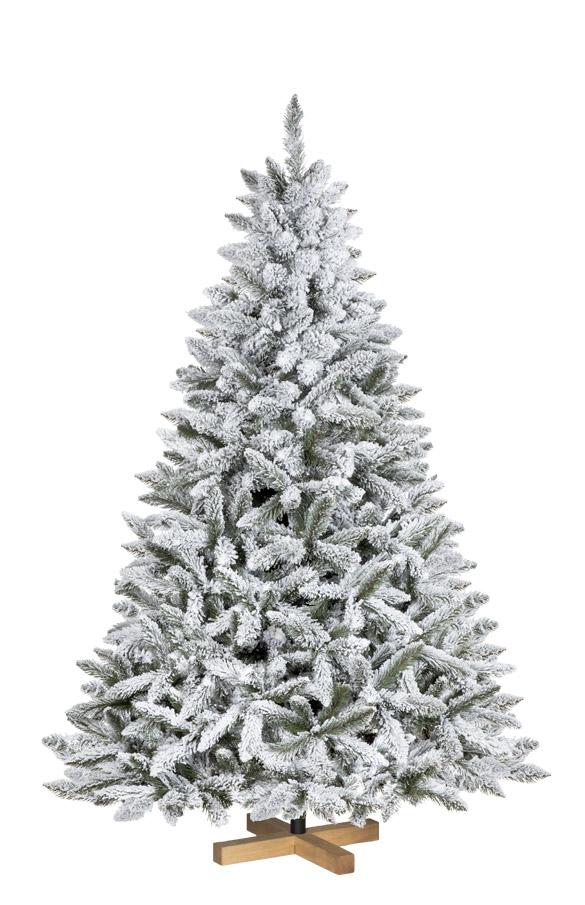 Albero Di Natale Artificiale Abete Naturale Con Neve Fairytrees