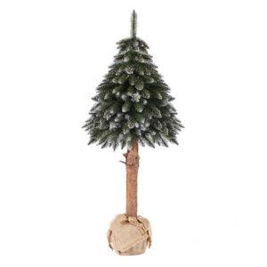 Albero di Natale artificiale abete su tronco innevato