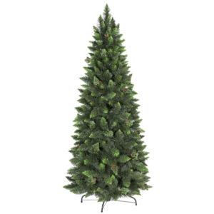 Albero di Natale artificiale Pino naturale verde slim